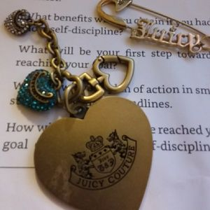 Juicy Couture Clip Charms & Juicy Safety Pin